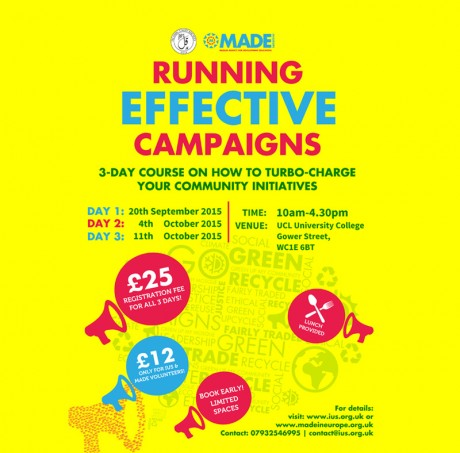 New! – Running Effective Campaigns workshops