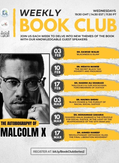 Weekly Book Club – Series 2: The Autobiography of Malcolm X