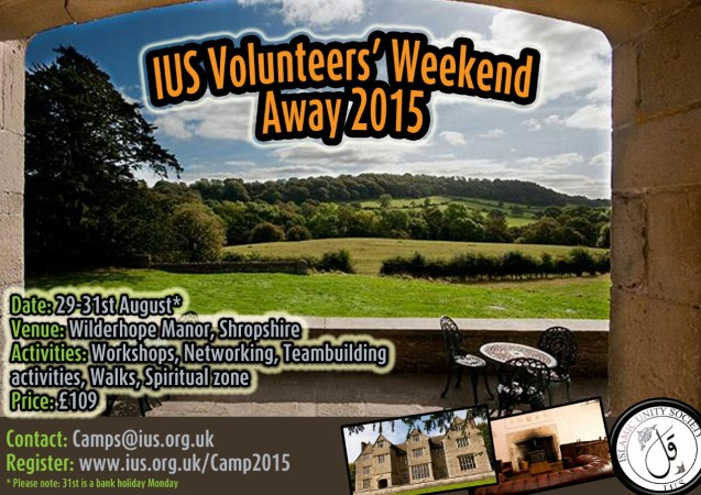 IUS Volunteers' Weekend Away 2015