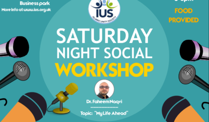SNS – Workshop: 'My Life Ahead', with: Dr. Faheem Naqvi