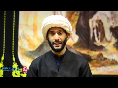 Sheikh Jaffer Ladak on the importance of Blood Donation