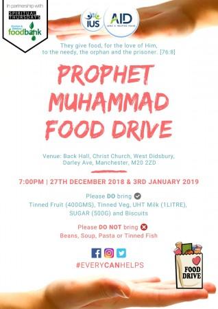 Prophet Muhammad Food Drive