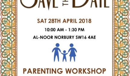 SAVE THE DATE: Parenting Workshop